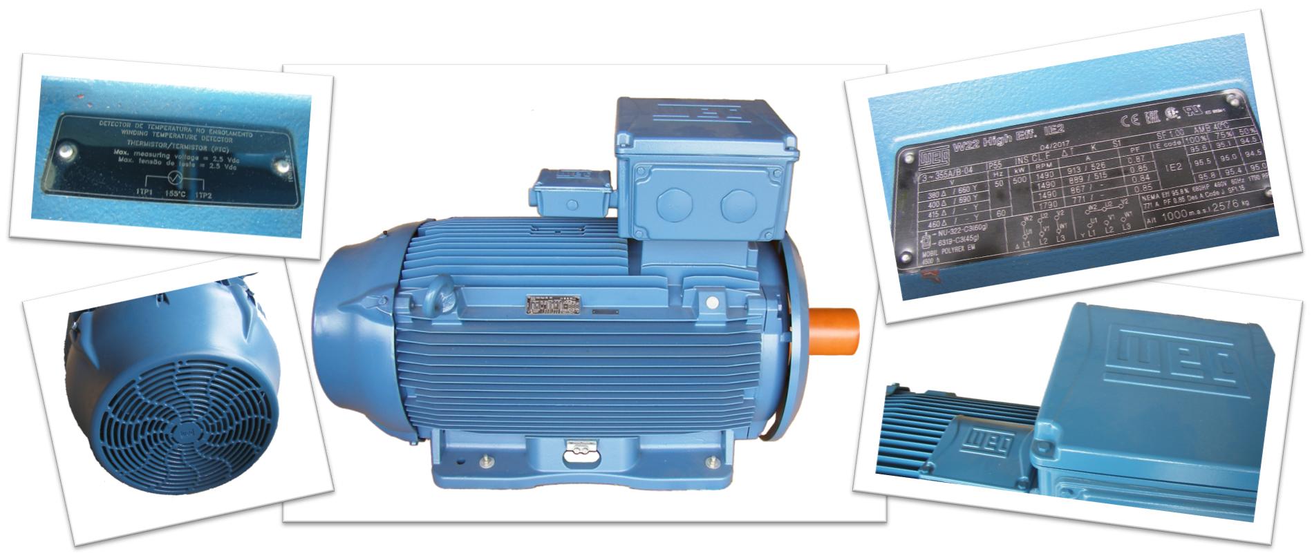 500 kW WEG motor