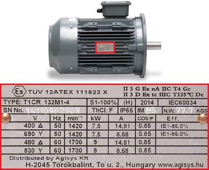 TCR ATEX motor adattabla